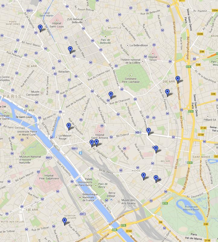 13 laveries du quartier dans PARIS est